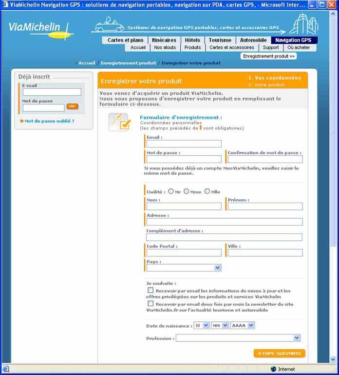 Installation des logiciels du viamichelin x980t for Logiciel pour empecher les fenetre publicitaire